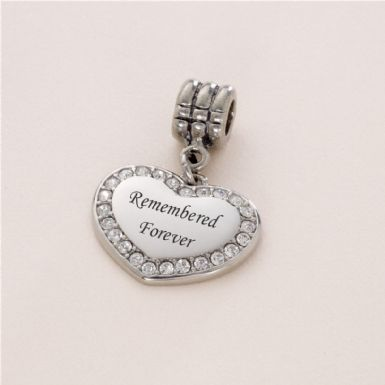 Remembered Forever, Memorial Charm | Someone Remembered